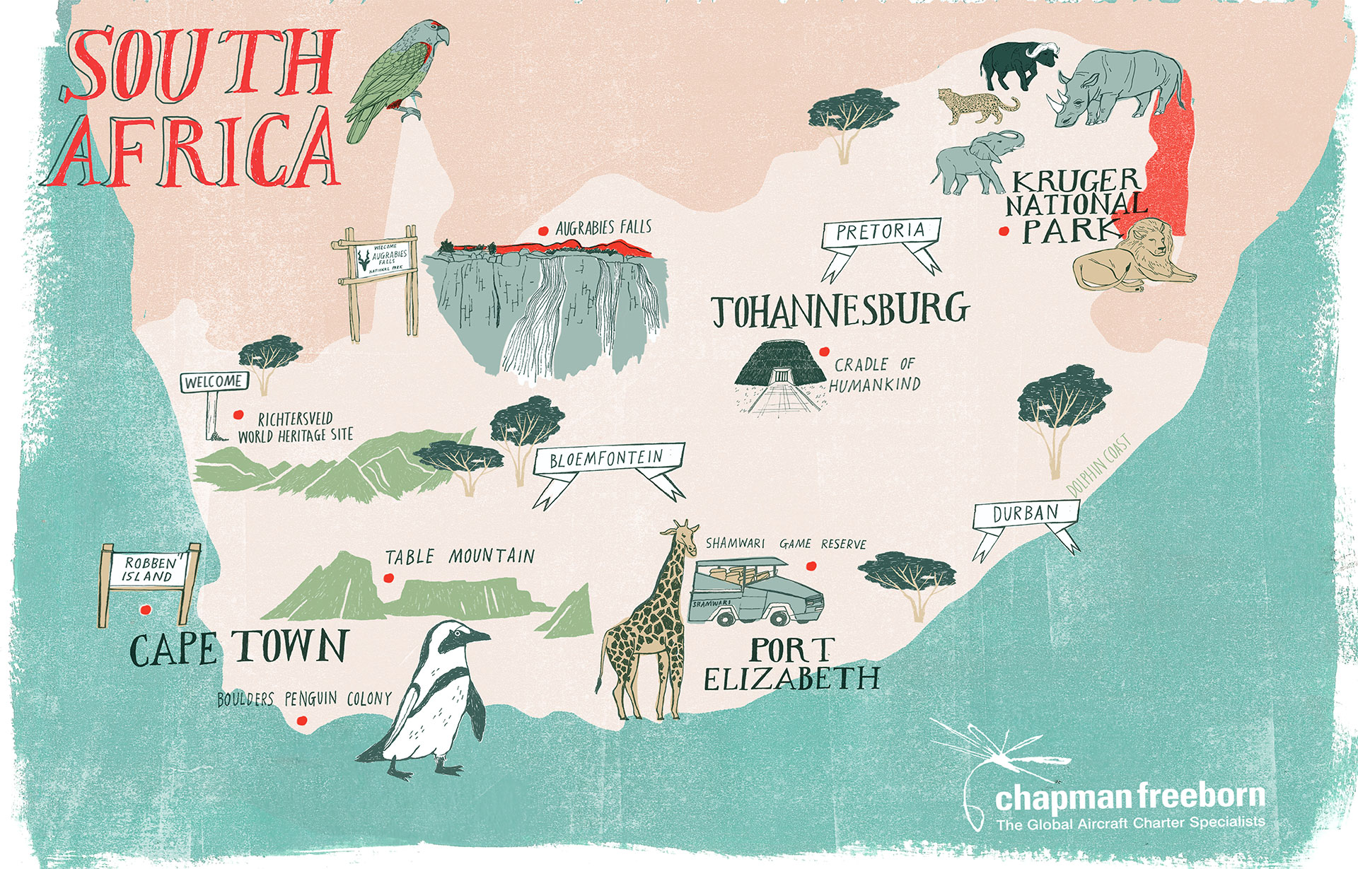 South Africa Interactive Map | World Travel Market Africa